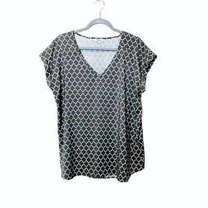 •Express Grey Patterned Blouse•